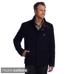 Izod Men's Wool Jacket with Three Pockets