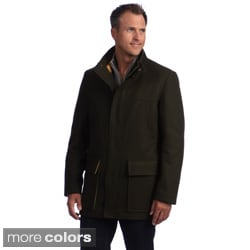 Izod Men's Zip Front Wool Jacket