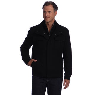 Izod Men's Zippered Wool Jacket