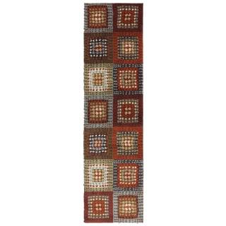 American Rug Craftsmen Shaggy Vibes Woodblock Hot Fudge Rug (2' x 7'10)