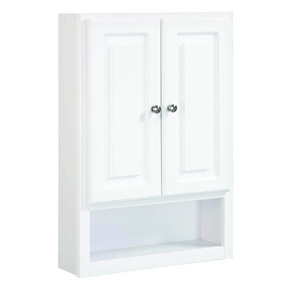 design house concord white gloss wall 2 door bathroom cabinet