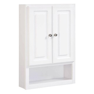 Design House Concord White Gloss Wall 2-Door Bathroom Cabinet