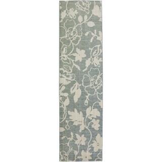 Serenity Colonial Park Green Slate Rug (2'1 x 7'10)