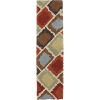 Shaggy Vibes Abercorn Coco Butter Rug (2' x 7'10)