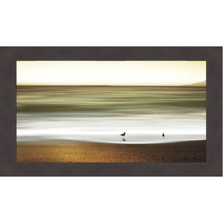 Marvin Pelkey 'Golden Shores' Framed Print Art