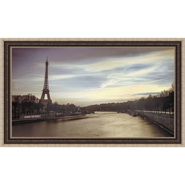 Assaf Frank 'Paris Sunset' Framed Print Art