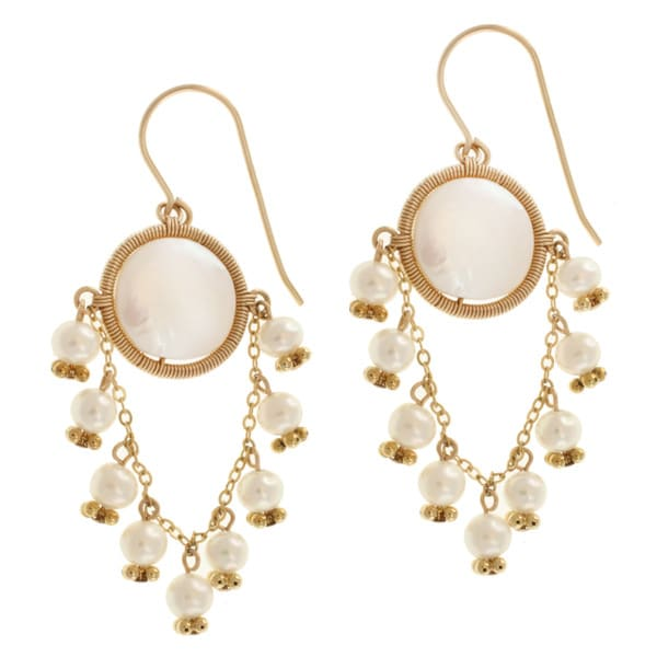 Michael Valitutti Gold over Silver Pearl Earrings (4-11 mm)