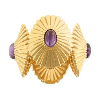 Michael Valitutti Gold over Silver Amethyst Ring