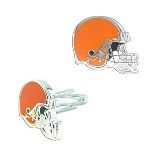 NFL .75-inch Cleveland Browns Cut Out Engraved Logo Design Cufflinks