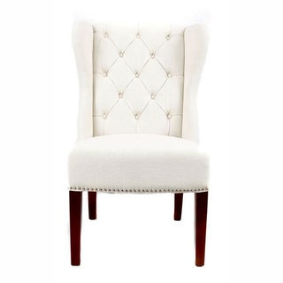 nuLOOM Modern Natural Nailhead Accent Wingback Chair