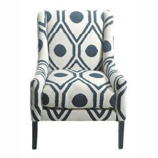 nuLOOM Contemporary Trellis Cotton Blue Accent Arm Chair
