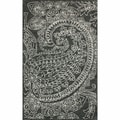 nuLOOM Handmade Contemporary Paisley Wool Grey Rug (5' x 8')