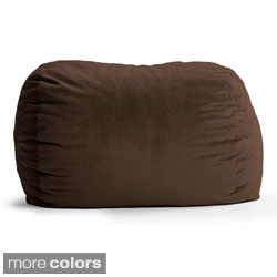 FufSack Wide Wale Corduroy 7-foot XXL Bean Bag Chair
