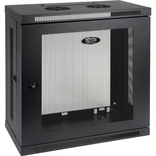 Tripp Lite SmartRack Slim 12U Wall-Mount Rack Enclosure Cabinet
