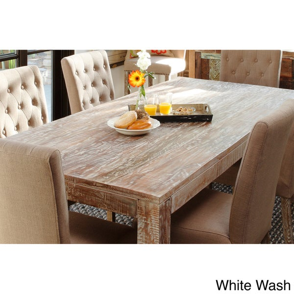 hamshire 60 inch distressed reclaimed wood dining table