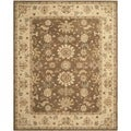Safavieh Hand-made Anatolia Brown/ Beige Wool Rug (9'6 x 13'6)