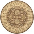 Safavieh Hand-made Anatolia Brown/ Beige Wool Rug (6' Round)