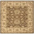 Safavieh Hand-made Anatolia Brown/ Beige Wool Rug (6' Square)