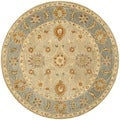 Safavieh Hand-made Anatolia Taupe/ Grey Wool Rug (6' Round)