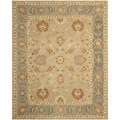 Safavieh Hand-made Anatolia Taupe/ Grey Wool Rug (8' x 10')