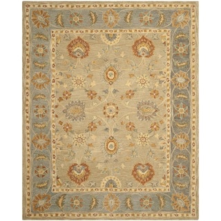Safavieh Hand-made Anatolia Taupe/ Grey Wool Rug (9' x 12')