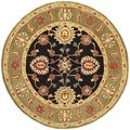 Safavieh Hand-made Anatolia Black/ Green Wool Rug (6' Round)