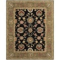 Safavieh Hand-made Anatolia Black/ Green Wool Rug (8' x 10')