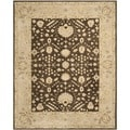 Safavieh Hand-made Anatolia Chocolate/ Ivory Wool Rug (8' x 10')