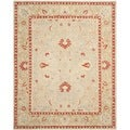 Safavieh Hand-made Anatolia Ivory/ Green Wool Rug (8' x 10')