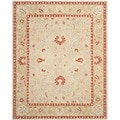 Safavieh Hand-made Anatolia Ivory/ Green Wool Rug (9' x 12')