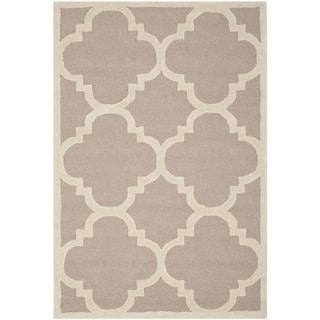 Safavieh Handmade Moroccan Cambridge Beige/ Ivory Wool Rug (4' x 6')