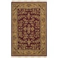 Safavieh Hand-made Heritage Red/ Gold Wool Rug (3' x 5')