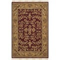 Safavieh Hand-made Heritage Red/ Gold Wool Rug (4' x 6')