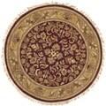 Safavieh Hand-made Heritage Red/ Gold Wool Rug (3'6 Round)