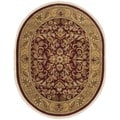Safavieh Hand-made Heritage Red/ Gold Wool Rug (7'6 x 9'6 Oval)
