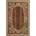 Safavieh Hand-made Naples Black/ Gold Wool Rug (5' x 8')
