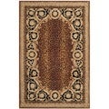 Safavieh Hand-made Naples Black/ Gold Wool Rug (6' x 9')