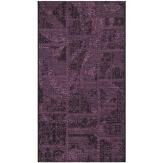 Safavieh Palazzo Black/ Purple Polypropylene/ Chenille Area Rug (3' x 5')