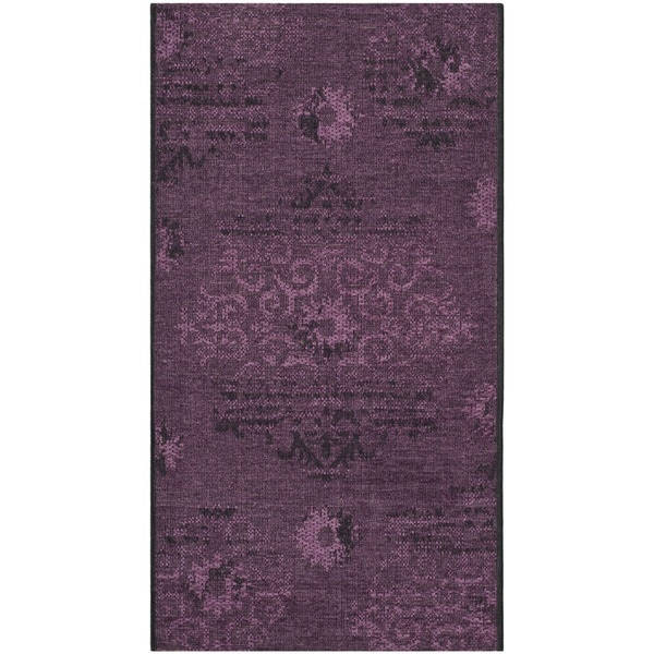 Safavieh Palazzo Black/ Purple Polypropylene/ Chen