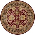 Safavieh Hand-made Persian Legend Rust/ Navy Wool Rug (8' Round)