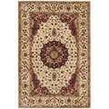 Safavieh Hand-made Persian Legend Ivory/ Ivory Wool Rug (4' x 6')