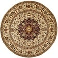 Safavieh Hand-made Persian Legend Ivory/ Ivory Wool Rug (6' Round)
