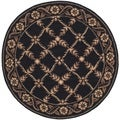 Safavieh Hand-hooked Wilton Black New Zealand Wool Rug (4' x 4' Round)