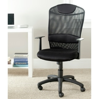 "Safavieh Shane Black Desk Chair - 24.4"" x 21.9"" x 42.1"""