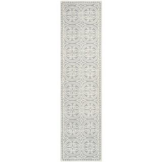 Safavieh Handmade Cambridge Moroccan Silver/ Ivory Rug (2'6 x 6')