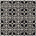 Safavieh Handmade Moroccan Cambridge Black Wool Rug (6' Square)