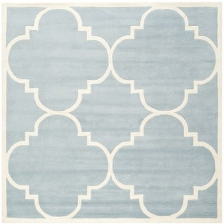 Safavieh Handmade Moroccan Chatham Blue Wool Area Rug (8'9 Square)