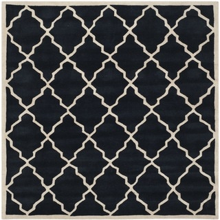 Safavieh Handmade Moroccan Chatham Contemporary Dark Blue Wool Rug (7' Square)