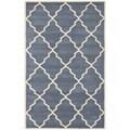 Safavieh Handmade Moroccan Chatham Geometric-pattern Gray Wool Area Rug (5' x 8')