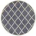 Contemporary Safavieh Handmade Moroccan Chatham Gray Wool Rug (7' Round)